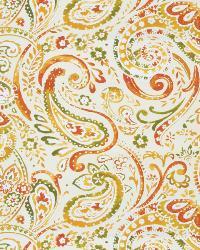 Blue Classic Paisley Fabric  03056 Orange Grove