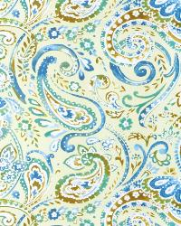Green Classic Paisley Fabric  03056 Dragonfly