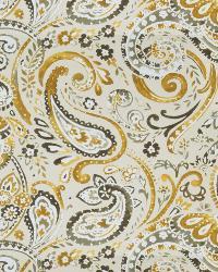 Black Classic Paisley Fabric  03056 Granite