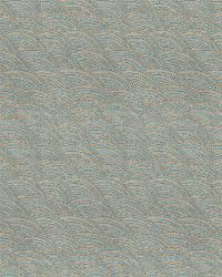 Blue Isabelle De Borchgrave Fabric  Current Ocean Sparkle