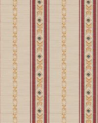 Pink Isabelle De Borchgrave Fabric  Regal Stripe Mulberry