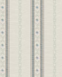 Lt Blue Isabelle De Borchgrave Fabric  Regal Stripe Mineral