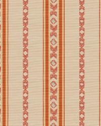 Orange / Spice Isabelle De Borchgrave Fabric  Regal Stripe Canyon