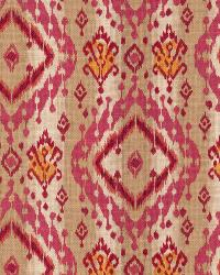 Pink Isabelle De Borchgrave Fabric  Ikat Paisley Mulberry