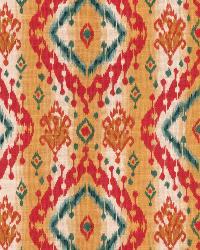 Gold Isabelle De Borchgrave Fabric  Ikat Paisley Exotic Gold