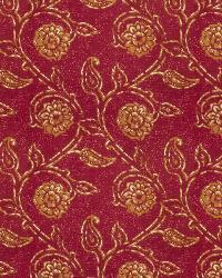 Burgundy Isabelle De Borchgrave Fabric  Gala Floral Mulberry