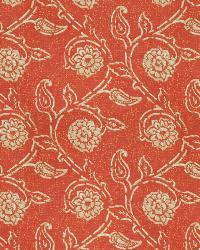 Orange / Spice Isabelle De Borchgrave Fabric  Gala Floral Canyon