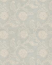 Aqua / Teal Isabelle De Borchgrave Fabric  Gala Floral Mist