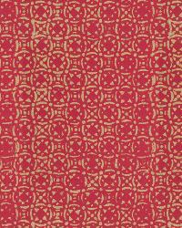 Metallic Isabelle De Borchgrave Fabric  Venetian Tile Berry