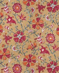 Gold Isabelle De Borchgrave Fabric  Cheval Exotic Berry