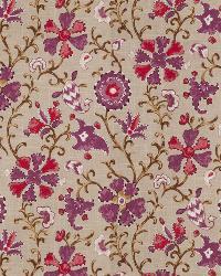 Lavender / Purple Isabelle De Borchgrave Fabric  Cheval Mulberry
