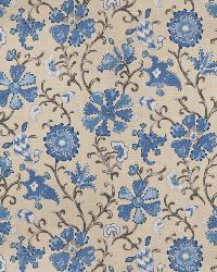 Blue Isabelle De Borchgrave Fabric  Cheval Ocean