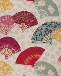 Pink Oriental Fabric  Exotic Fans Mulberry
