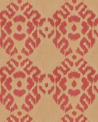 Coral / Peach Isabelle De Borchgrave Fabric  Tribal Diamond Berry