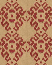 Red Isabelle De Borchgrave Fabric  Tribal Diamond Cardinal