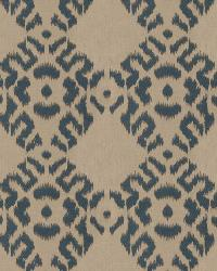 Blue Isabelle De Borchgrave Fabric  Tribal Diamond Indigo