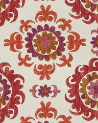 Orange / Spice Print Studio Global Influences Fabric Fabricut Fabrics Trenton Garnet