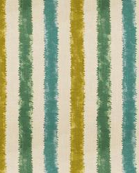 Aqua / Teal Isabelle De Borchgrave Fabric  Kermesse Splash