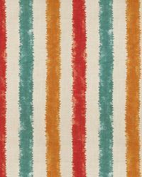 Aqua / Teal Isabelle De Borchgrave Fabric  Kermesse Sunset