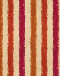 Orange / Spice Isabelle De Borchgrave Fabric  Kermesse Canyon