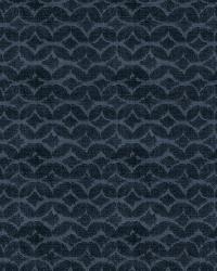 Blue Isabelle De Borchgrave Fabric  Couture Velvet Navy