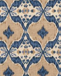 Blue Isabelle De Borchgrave Fabric  Nomadic Indigo