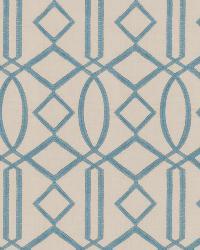Aqua / Teal Isabelle De Borchgrave Fabric  Egyptian Lattice Turquoise