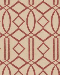 Burgundy Isabelle De Borchgrave Fabric  Egyptian Lattice Mulberry