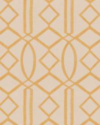 Gold Isabelle De Borchgrave Fabric  Egyptian Lattice Gold