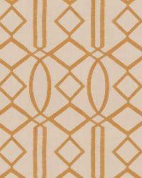 Bronze Isabelle De Borchgrave Fabric  Egyptian Lattice Curry