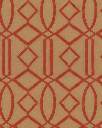 Orange / Spice Isabelle De Borchgrave Fabric  Egyptian Lattice Canyon
