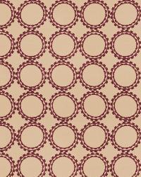 Burgundy Isabelle De Borchgrave Fabric  Circle Suzani Mulberry