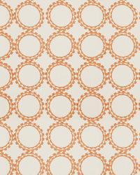 Orange / Spice Isabelle De Borchgrave Fabric  Circle Suzani Canyon