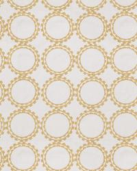 Gold Isabelle De Borchgrave Fabric  Circle Suzani Dijon