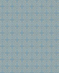 Aqua / Teal Isabelle De Borchgrave Fabric  Sablon Turquoise