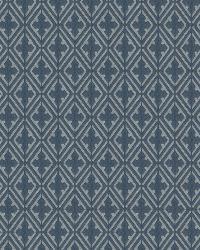 Blue Isabelle De Borchgrave Fabric  Sablon Indigo