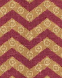 Burgundy Isabelle De Borchgrave Fabric  Chevron Kimono Mulberry