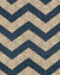 Blue Isabelle De Borchgrave Fabric  Chevron Kimono Navy
