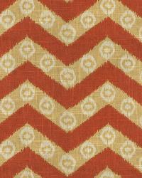 Orange / Spice Isabelle De Borchgrave Fabric  Chevron Kimono Canyon