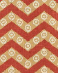 Orange / Spice Isabelle De Borchgrave Fabric  Chevron Kimono Sienna
