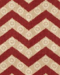 Red Isabelle De Borchgrave Fabric  Chevron Kimono Merlot