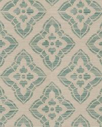 Aqua / Teal Isabelle De Borchgrave Fabric  Stucco Diamond Teal
