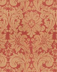 Vervain Fabrics Hearst Damask Coral Fabric