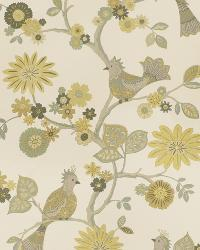 Yellow Oriental Fabric  03184 Lemongrass