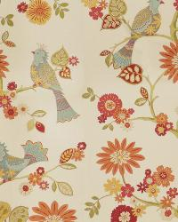 Orange Oriental Fabric  03184 Summer
