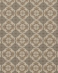 Grey / Linen Oriental Fabric  Nobu Fawn