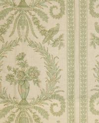 French Country Toile Fabric  Doucette Verde