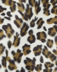 Beige Animal Print Faux Fur Fabric  DU15864 600 BLACK/CAMEL