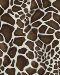 Brown Animal Print Faux Fur Fabric  DU15865 10 BROWN