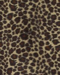 Beige Animal Print Faux Fur Fabric  DU15866 600 BLACK/CAMEL